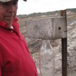 Bill checks the Carpenter Bee traps